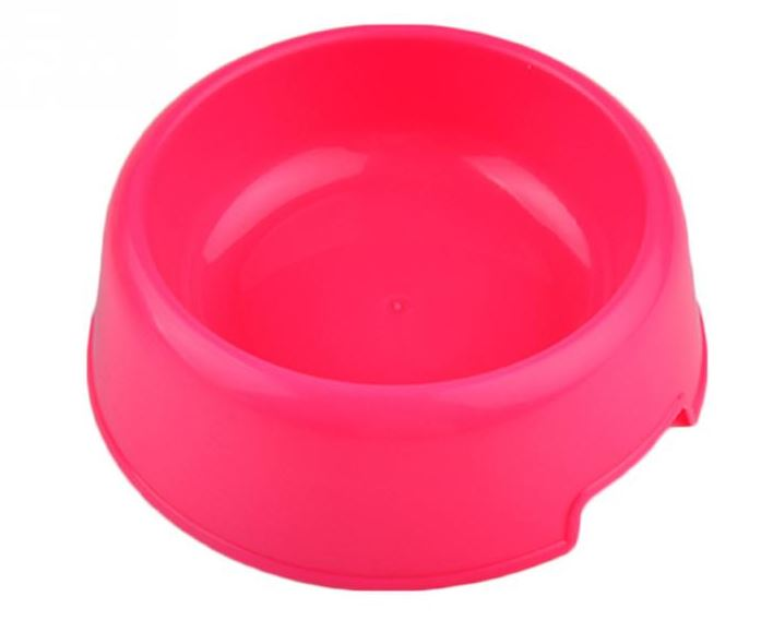 Colorful Plastic Dog Bowl