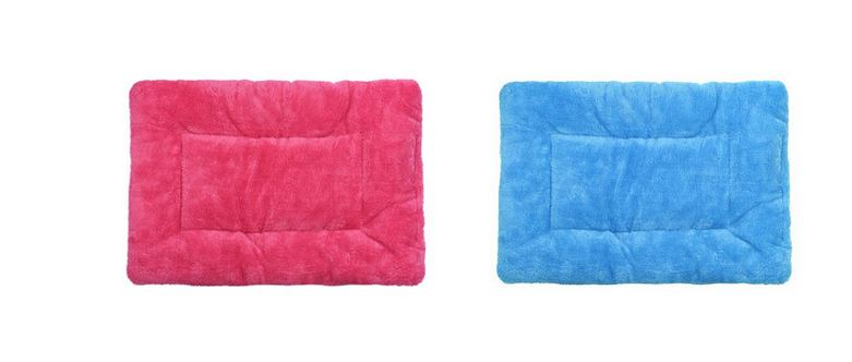 Hot pink_blue_dog_mat