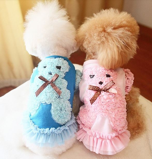 Dog Dress With Cute Bear