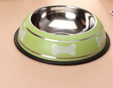 bone_printed_dog_bowl_green