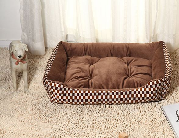 Brown/Beige Dog Bed