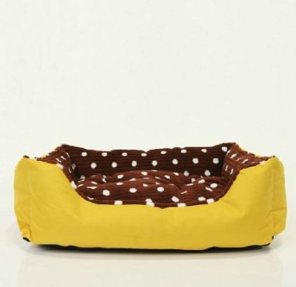 Brown Polka Dot Dog Bed