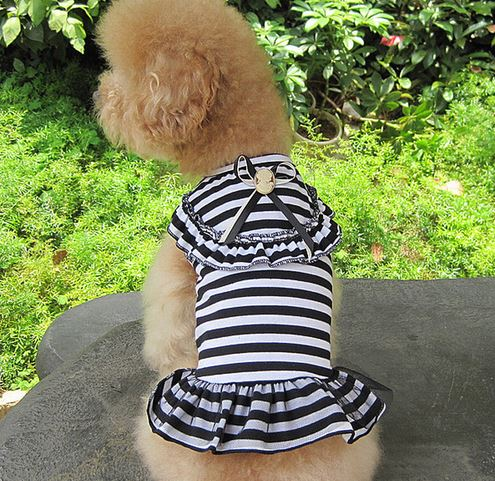 charming_striped_dog_dress_black