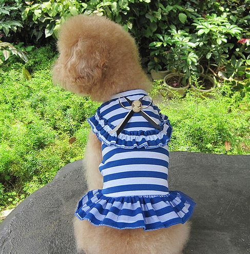 charming_striped_dog_dress_blue