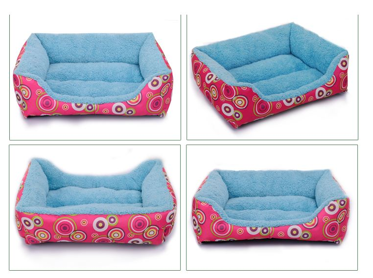colorful_soft_dog_bed_pink