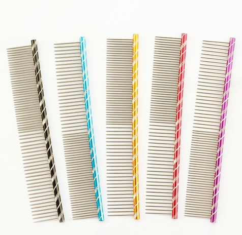 Colorful Stainless Steel Dog Comb