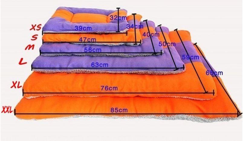 orange-purple dog mat8