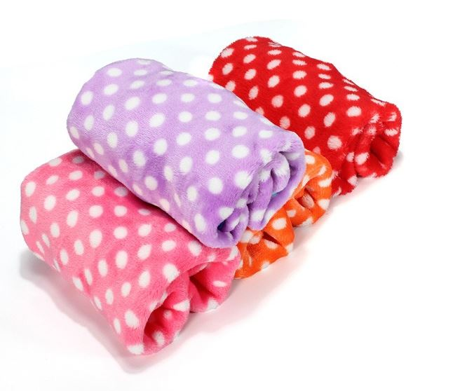 Polka Dot Dog Blanket