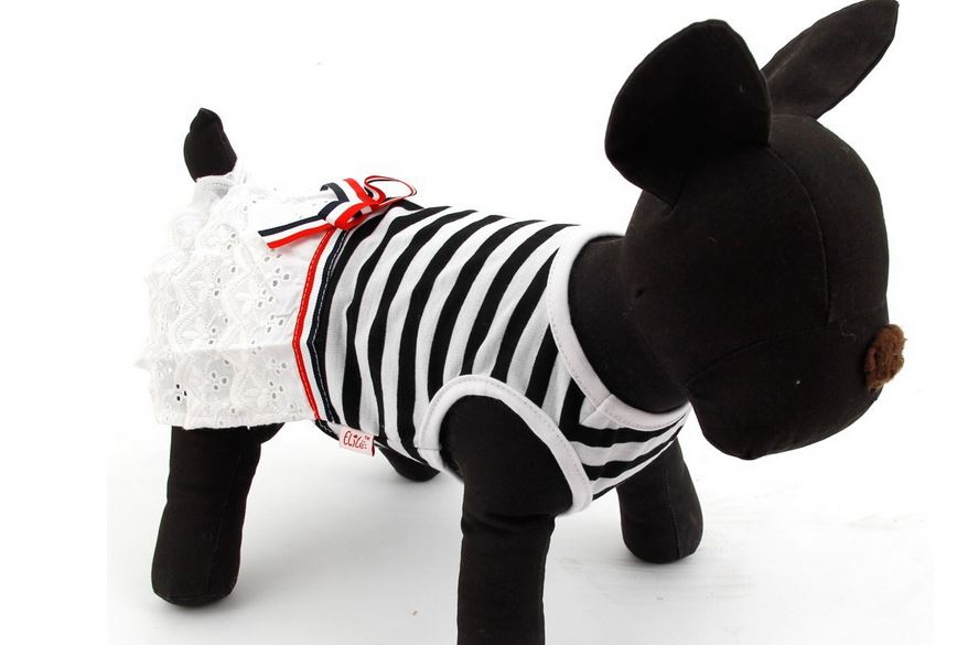 striped_pretty_dog_dress_black