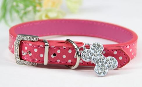 Colorful_polka_dot_dog_collar_pink