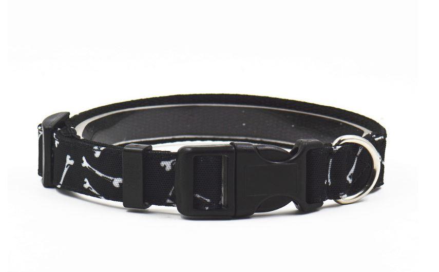black_bone_printed_collar_with-leash_2