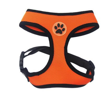 comfortable_dog_harness_orange