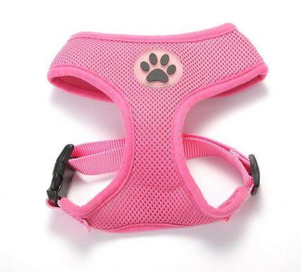 comfortable_dog_harness_pink