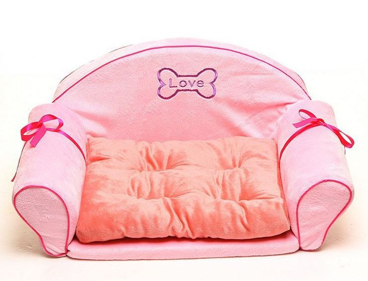 Cute Pink Dog Sofa