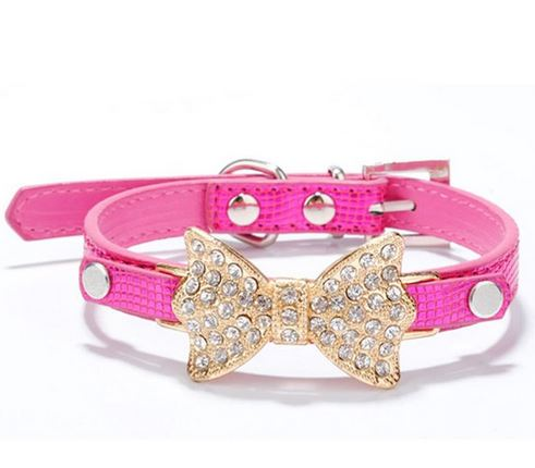 dog_collar_with_bow_hot_pink