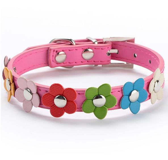 flower_dog_collar_hot_pink