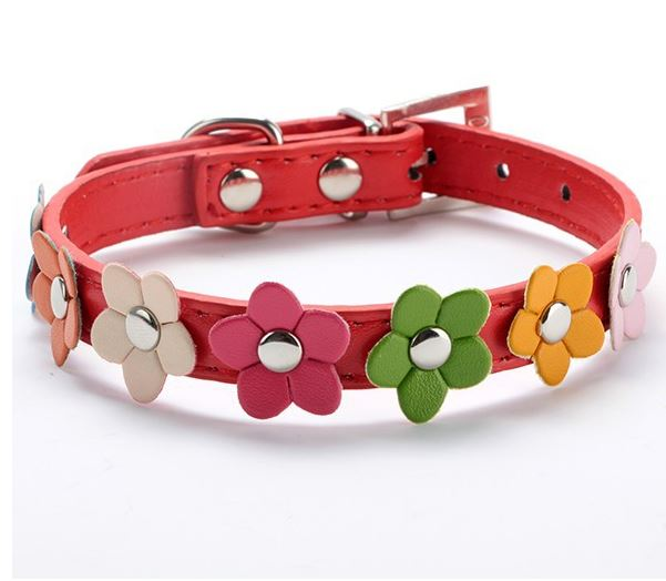 flower_dog_collar_red