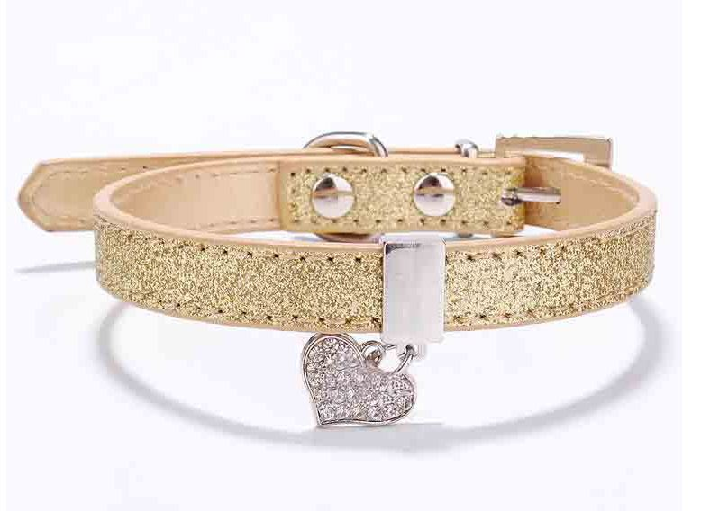 glitter_dog_collar_gold