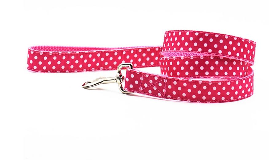 lovely_polka_dot_collar_with_leash_pink2