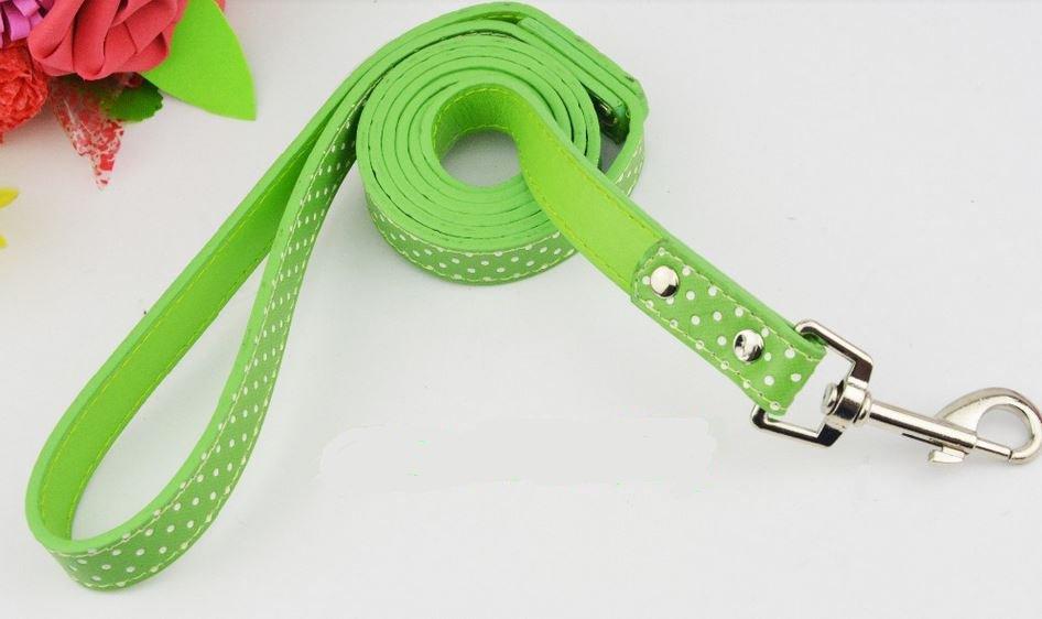 polka_dot_dog_leash_green
