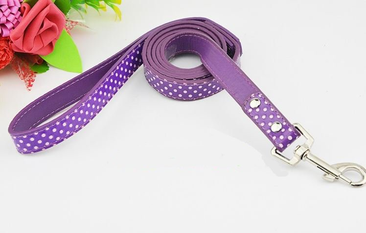 polka_dot_dog_leash_purple